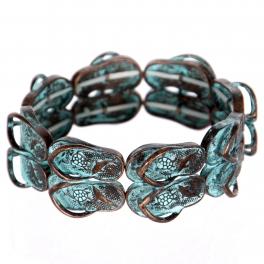 Wholesale WA00 flip-flop pair bracelet OG