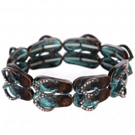 Wholesale WA00 flip-flop pair w/ bead for Bracelet OG