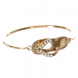Wholesale WA00Sea animals flip-flop w/ bead for Bracelet GD