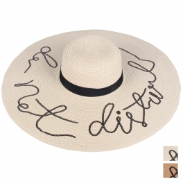wholesale WA00 DO NOT DISTURB Embroidery lettering floppy hat