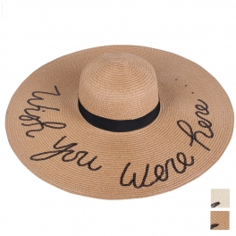 wholesale WA00 WISH YOU WERE HERE Embroidery lettering floppy hat
