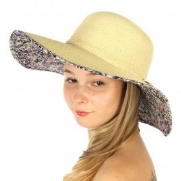 Wholesale BX00 Multicolored fabric under brim hat L.NT