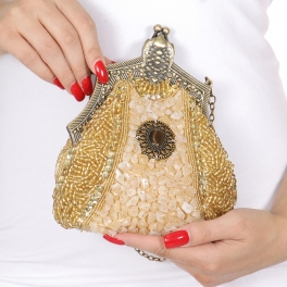 Wholesale N00B Beads rhinestone clasp evening clutch bags AG