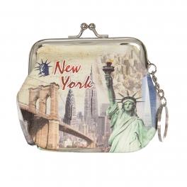 Wholesale L14A New york print Buckle Coin purse