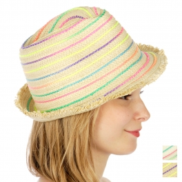 Wholesale W29 multi-color braid fedora BG
