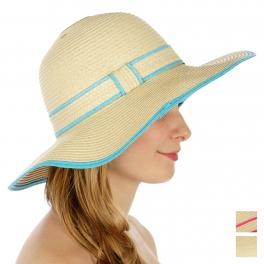 wholesale Color lined floppy sun hat AQ fashionunic