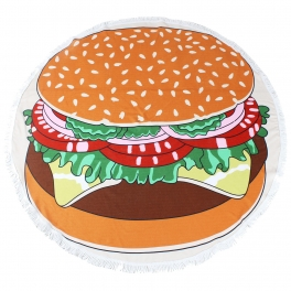 Wholesale S63A Hamburger microfiber beach towel/yoga mat