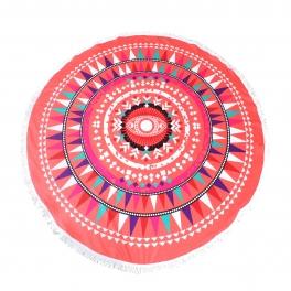 Wholesale S63A Coral eye microfiber beach towel/yoga mat