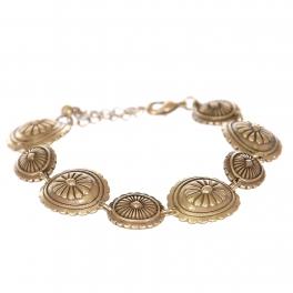 Wholesale L23B Flower carved circles metal bracelet GB