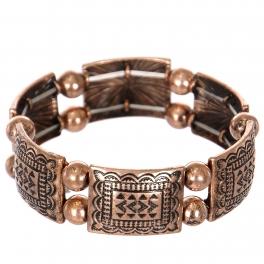 Wholesale L23C Tribal rectangle & sphere metal stretch bracelet CB