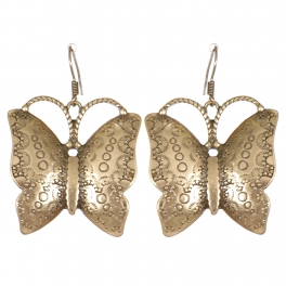 Wholesale L07C Bubble carved butterfly earrings GB