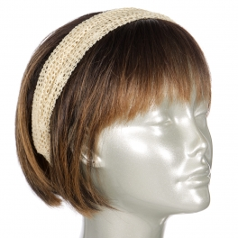 Wholesale M35C Crochet fishnet head band assorted color dozen