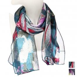 Wholesale WA00 Abstract art satin scarf