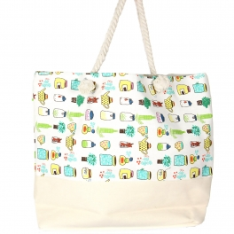 Wholesale S61B Extra large canvas beach Plant bag BEG