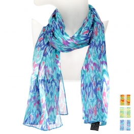 Wholesale O41B Paint brush stroke satin scarf