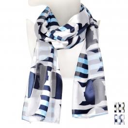 Wholesale O43B Geometric stripe satin scarf