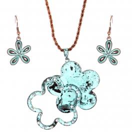 Wholesale L31E Floral pendant necklace OG