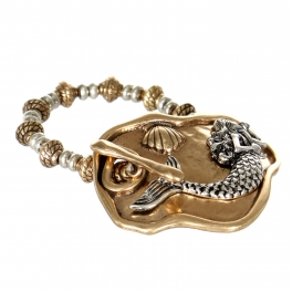 Wholesale WA00 Mermaid & seashell plate bracelet RGB.SB