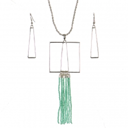 Wholesale WA00 Geometry & tassels necklace set GN