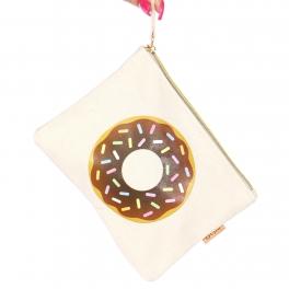 Wholesale N17C Cotton eco pouch Chocolate Donut