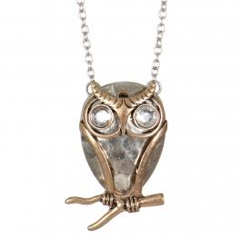 Wholesale M27B Owl pendant necklace SBRGB