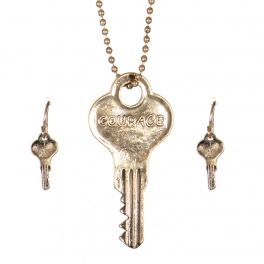 Wholesale WA00 Key pendant necklace set Courage GB