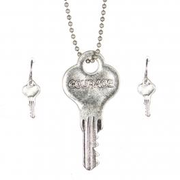 Wholesale WA00 Key pendant necklace set Courage SB