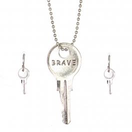 Wholesale WA00 Key pendant necklace set Brave SB