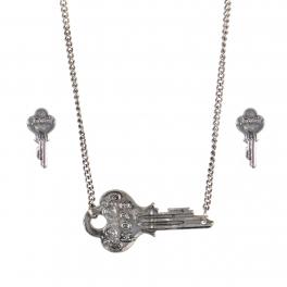 Wholesale WA00 Key pendant necklace set Hope 2 SB