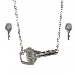 Wholesale WA00 Key pendant necklace set Strength 2 SB