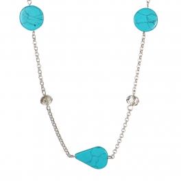 Wholesale WA00 Handmade turquoise bead necklace