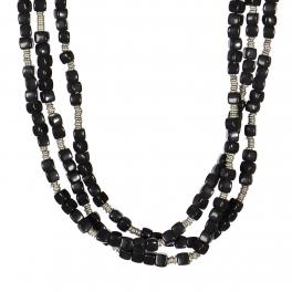 Wholesale WA00 Handmade black glass beads necklace