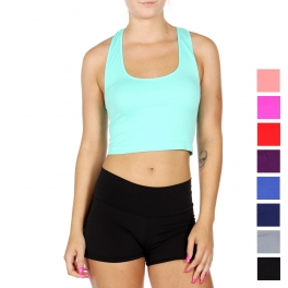 Wholesale O51D Seamless cropped tank top