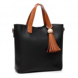Wholesale S27B Tassel tote Black