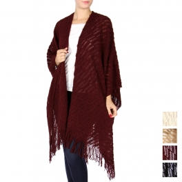 Wholesale S25B Textured woven shawl