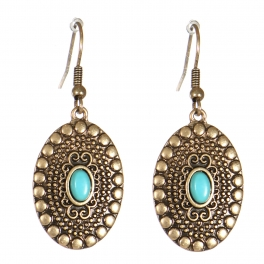 Wholesale M21C Textured oval drop earrings RGB