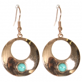 Wholesale M21D Round cut out earrings PG