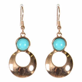Wholesale M21D Round cut out drop earrings PG