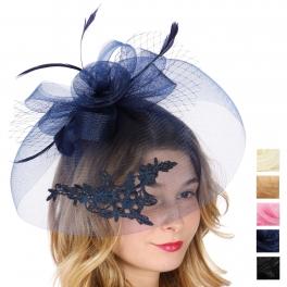 Wholesale V75B Veil fascinator headband