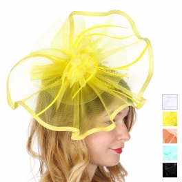 Wholesale V26C Flower fascinator with bead stamens