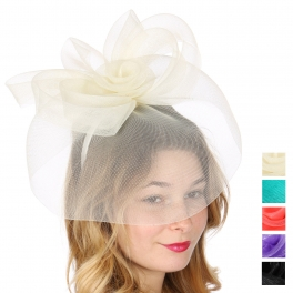 Wholesale W31A Flower and veil fascinator