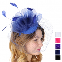Wholesale V26A Mesh veil fascinator headband