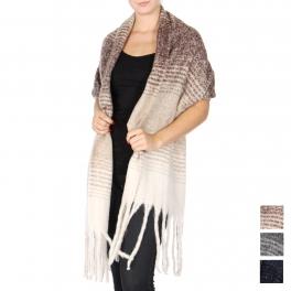 Wholesale T63 Brushed fringe oversized scarf