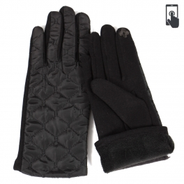 Wholesale Q23E Quilted touch screen gloves