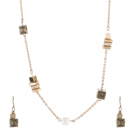 Wholesale Cubic strand necklace set GCR