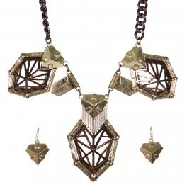 Wholesale Metal charm necklace set AGCH