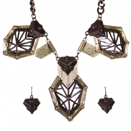 Wholesale Metal charm necklace set HTRI