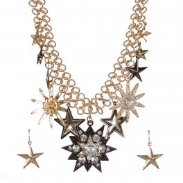 Wholesale Star charm pendant necklace set GCH