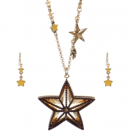 Wholesale Beaded star pendant necklace set GCH