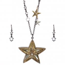 Wholesale Beaded star pendant necklace set HTG